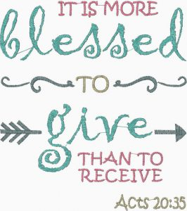 give more than receive